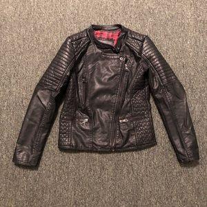 Girls Leather Jacket Size 10
